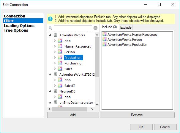 Active Query Builder: Defining metadata filters