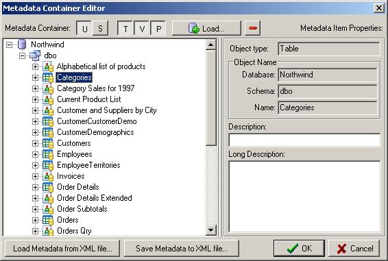 Metadata Container Editor