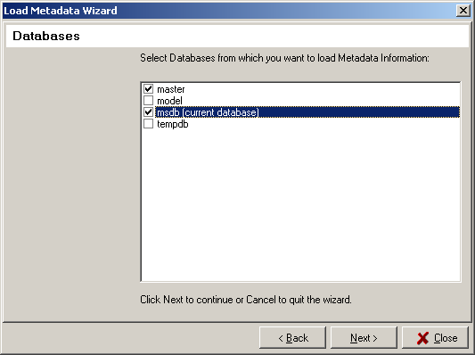 Load Metadata Wizard Step 5