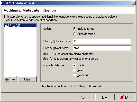 Load Metadata Wizard Step 6