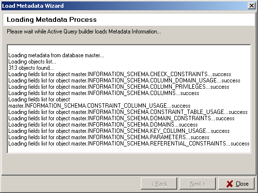 Load Metadata Wizard Step 7