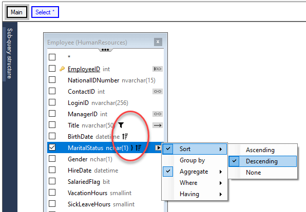 Active Query Builder for .NET 3.6 helps find and change various options in the query faster.