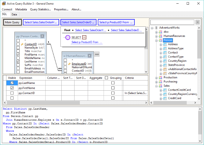 Active Query Builder 3 WPF Edition